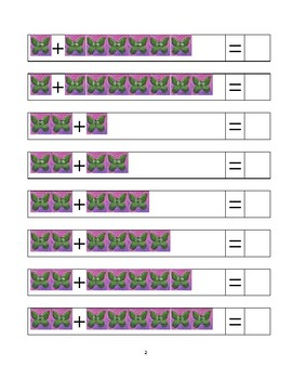 Add the butterflies together! An addition practice sheet