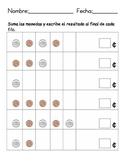 Add the coins/Suma las monedas