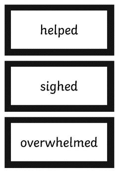 Add the suffix -ed