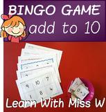 Addition to 10 bingo game