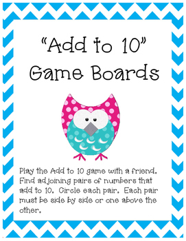 Add to 10 Game Boards