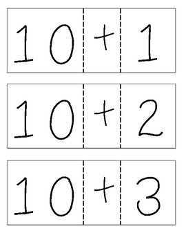 Add to 10 to Make a Teen Number - FREEBIE!