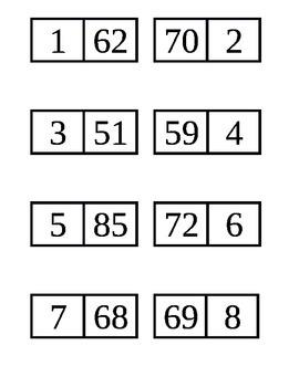 Add to 100 Domino Set