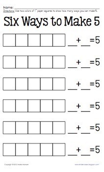 Add to Decompose Hands-On practice for Numbers 2, 3, 5 and 6 (set 1)