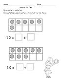 Add to Make Ten:  Math Center and Worksheet / Assessment  K.OA.4