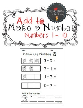 Add to Make a Number {1 to 10}