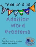 Add to word problems first grade 0-10