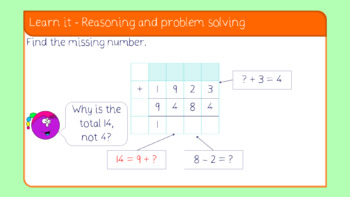 Add two 4-digit numbers - one exchange lesson (Year 4 Addition and Subtraction)