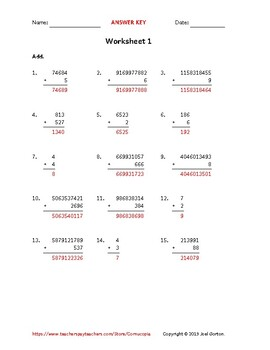 Add up to 10 digits to up to 4 digits (50 worksheets)