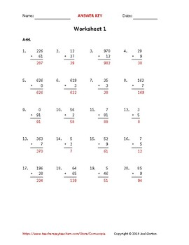 Add up to 3 digits to up to 2 digits (50 worksheets)