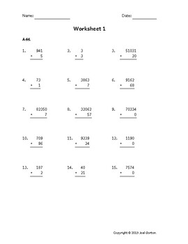 Add up to 5 digits to up to 2 digits (50 worksheets)