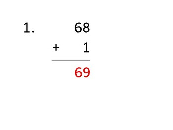 Add up to 8 digits to up to 2 digits (50 worksheets)