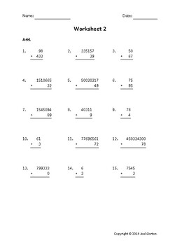 Add up to 9 digits to up to 3 digits (50 worksheets)