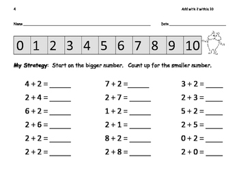 Add with Number Line: Add within 10: Count up to Add: 13 pgs. Seussy Theme