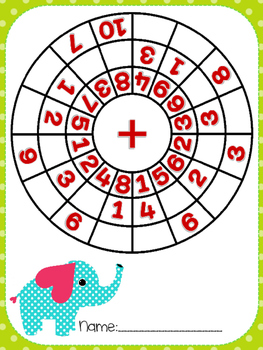 Add within 10 circles (elephant)