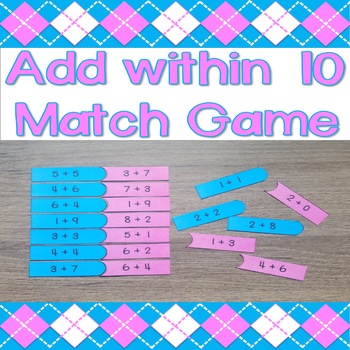 Add within 10 Match Game