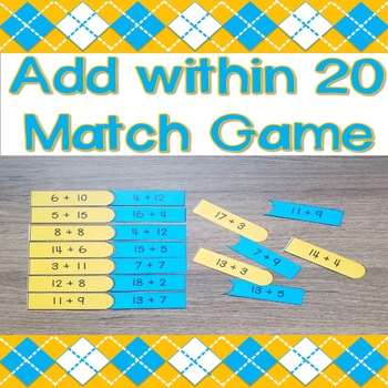 Add within 20 Match Game