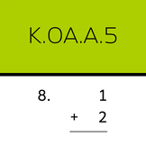 K.OA.A.5: Add within 5 (50 worksheets)