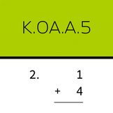 K.OA.A.5: Add within 5 (50 worksheets, vertical problems)
