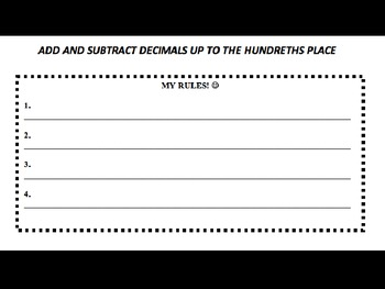 Add/Subtract Decimals to the Hundreths Place PPT