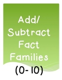 Add/Subtract Fact Families