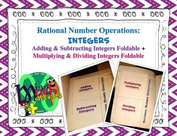 Add & Subtract Integers Foldable + Multiply & Divide Integ