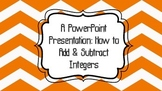 Add/Subtract Positive/Negative Numbers PowerPoint Lesson 7