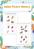 Added Picture Memory (Visual Memory Worksheets)