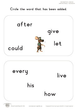 Added Word Memory (1st Grade)