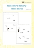Added Word Memory (1st Grade)