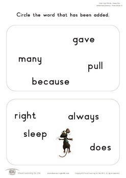 Added Word Memory (2nd Grade)