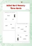 Added Word Memory (Kindergarten)