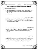 Addend Unknown Word Problems