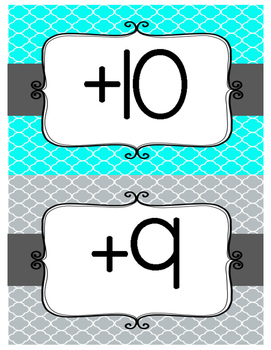 Addition Fact Fluency Clip Chart