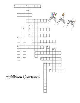 Addiction Vocabulary Crossword Puzzle