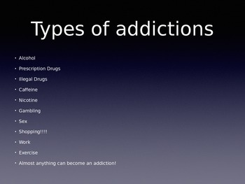 Addiction and Substance Abuse Presentaion