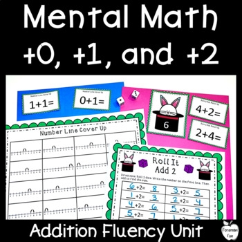 Plus 0, 1, & 2 Unit ~ Mental Math Addition Strategies ~ K-1