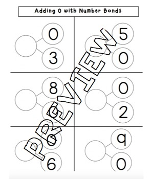 Adding 0 and 1 with Number Bonds