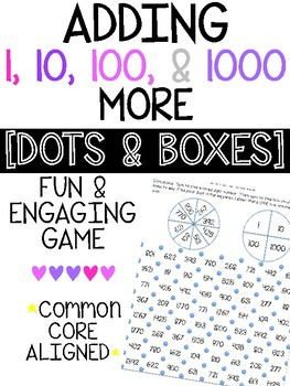 Adding 1, 10, 100, 100 More [DOTS & BOXES GAME]