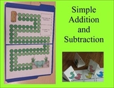 Simple Addition and Subtraction Board Game