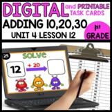 Adding 10, 20, 30 | DIGITAL TASK CARDS | PRINTABLE TASK CARDS
