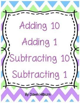 Adding 10 Adding 1 Subtracting 10 Subtracting 1