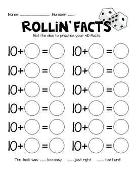 Adding 10 Fact Practice