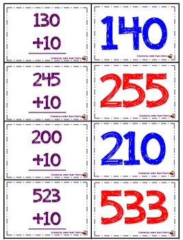 Adding 10 Memory (3-Digit Number Edition) - Aligned with Common Core Standards