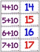 Adding 10 Memory Game (Sums 10-21) - Aligned with Common Core Standards