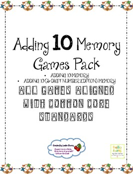 Adding 10 Memory Pack - Aligned with Common Core Standards