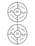 Adding 10's Puzzles