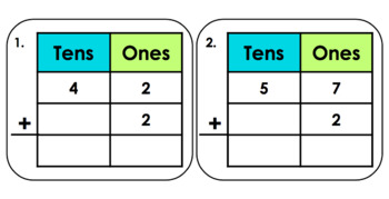 Adding 10's Without Regrouping (Math Center)