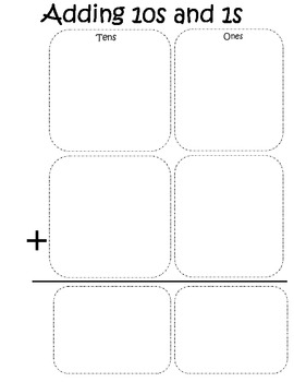 Adding 10s and 1s workmat FREEBIE