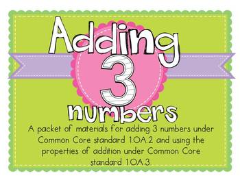 Adding 1.OA.2 and 1.OA.3